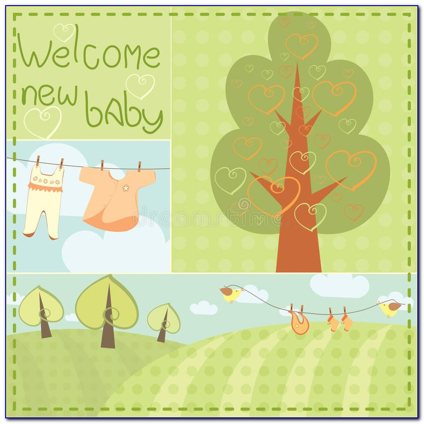 New Baby Boy Card Template