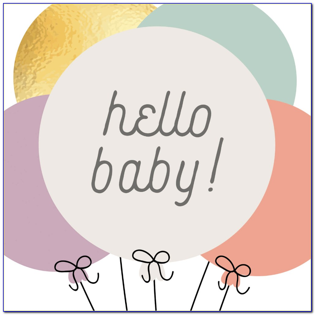 New Baby Greeting Card Template
