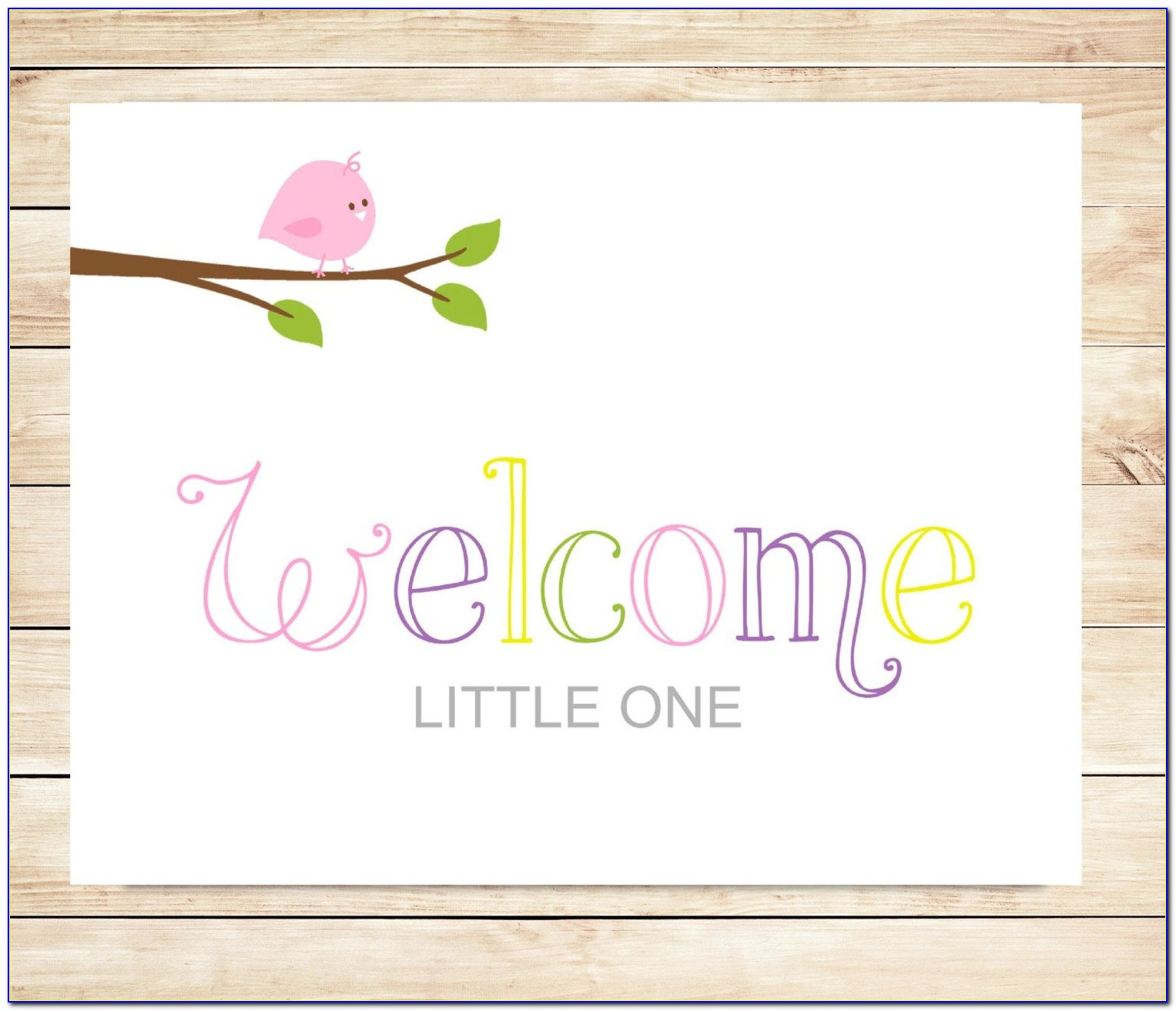 New Baby Photo Card Template