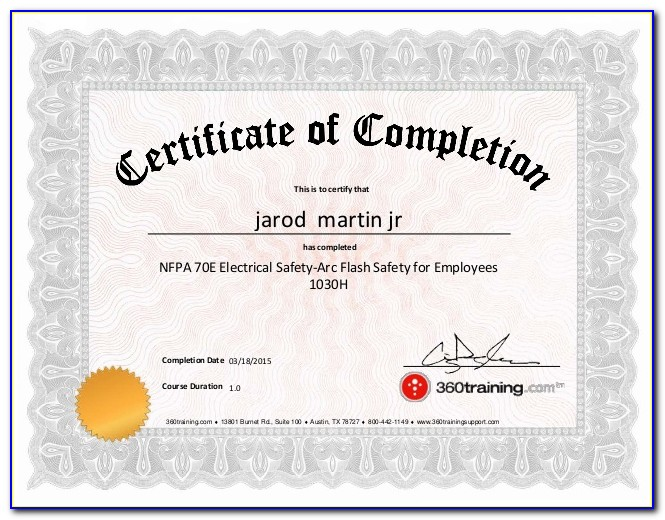 Nfpa 70e Certification Good For