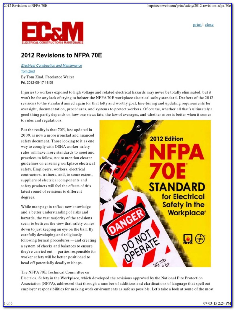 Nfpa 70e Training Online