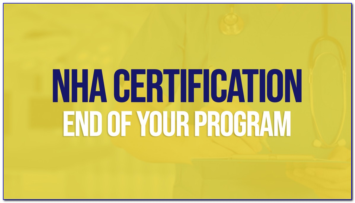 Nha Certified Clinical Medical Assistant Verification