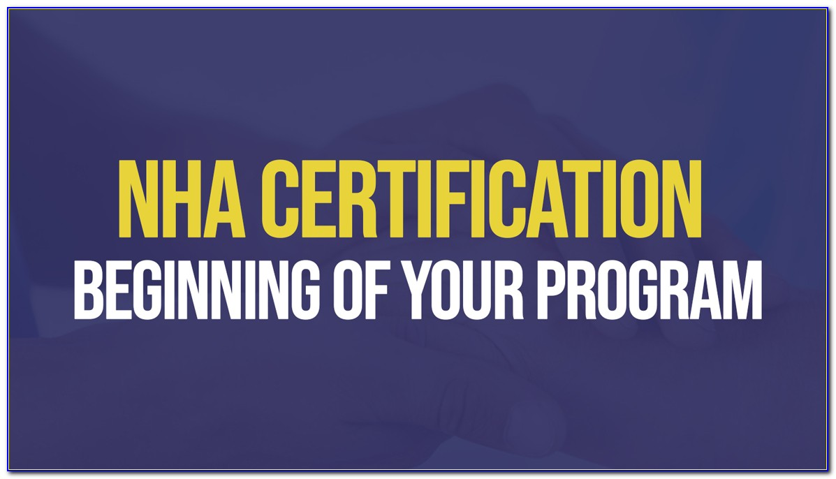Nha Certified Clinical Medical Assistant