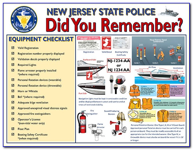 Nj Boating Safety Certificate Class