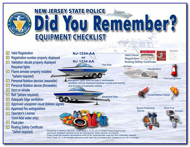 Nj Boating Safety Test Locations