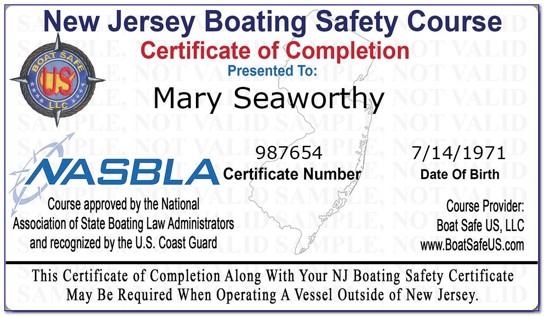 Nj Safe Boating Certificate