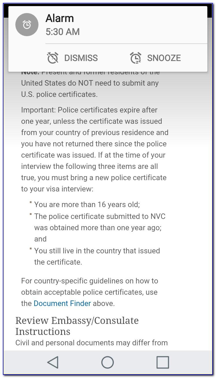 Nvc Police Certificate Brazil