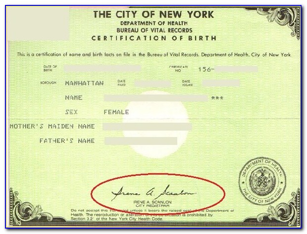 Nys Birth Certificate For Adoptees