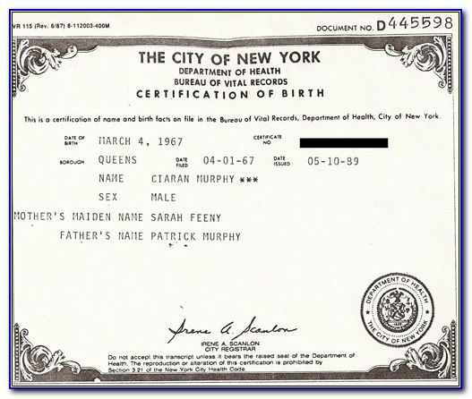 Nys Certificate Of Authority Form