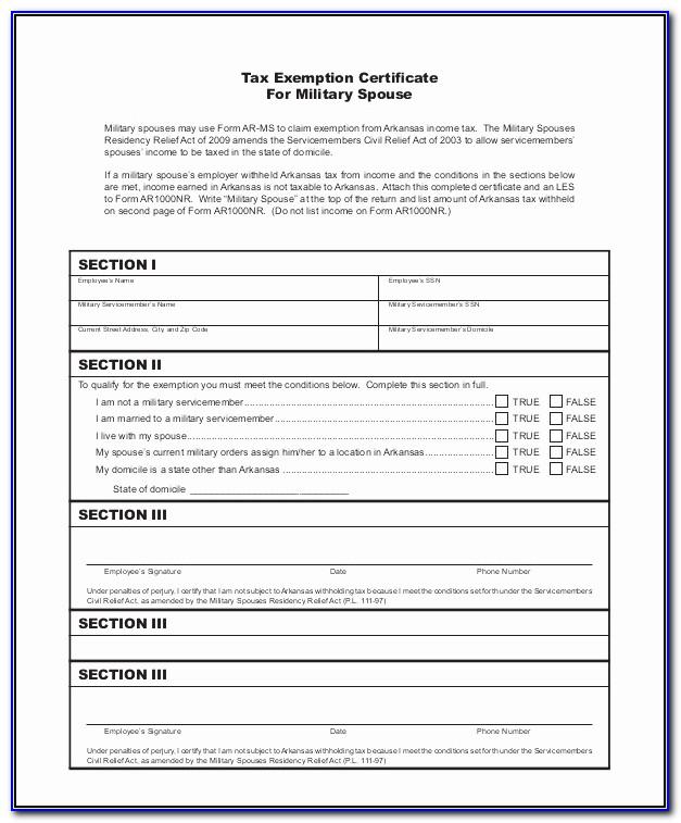 Ohio Blanket Exemption Certificate Pdf