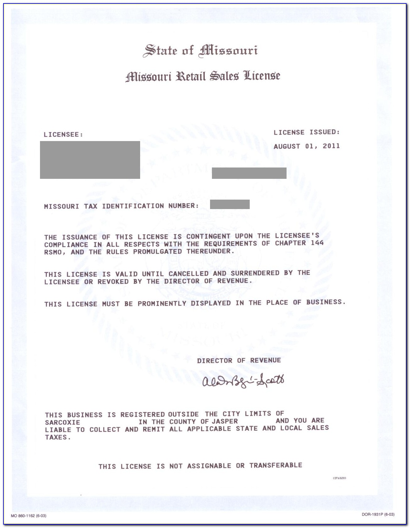 Ohio Resale Certificate Out Of State