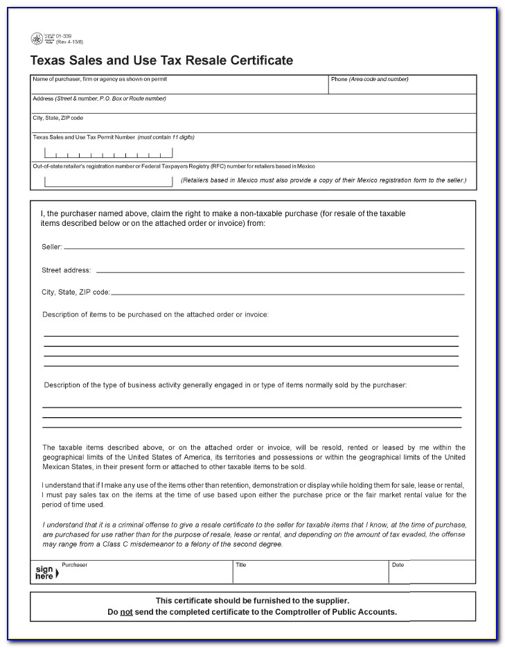 Oklahoma Resale Certificate Application