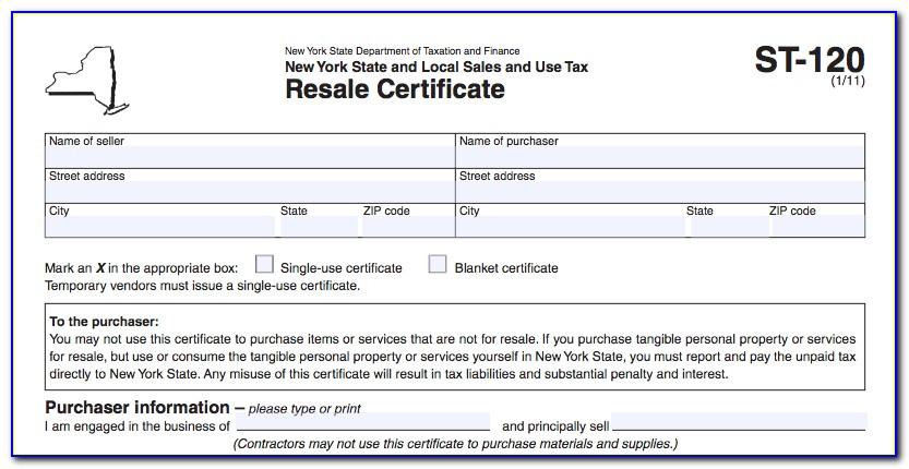 Oklahoma Resale Certificate Example