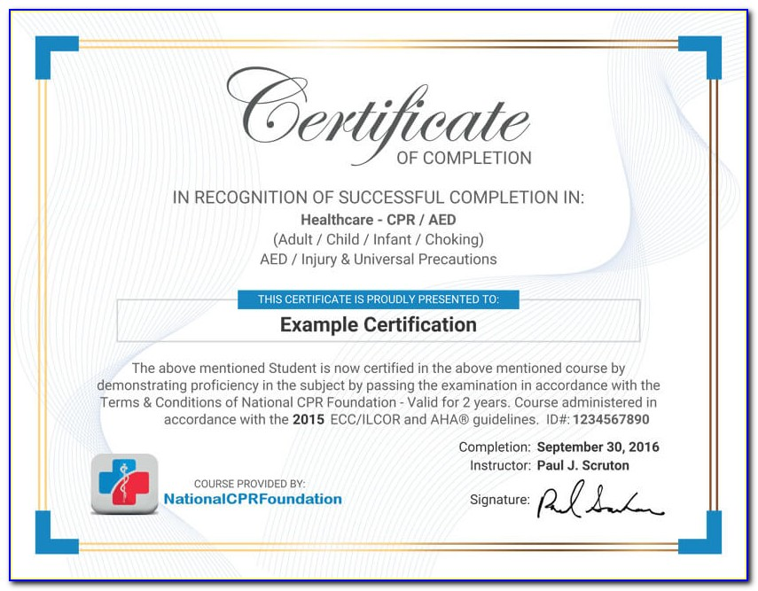Online Cpr Certification Renewal