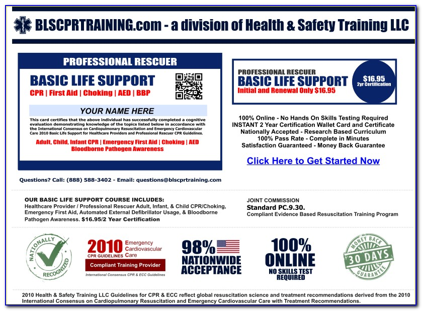 Online Cpr Certification Through American Heart Association