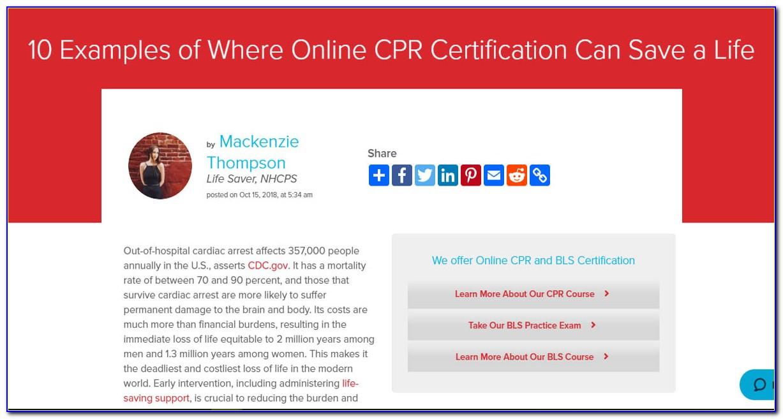 Online Cpr Recertification American Heart Association