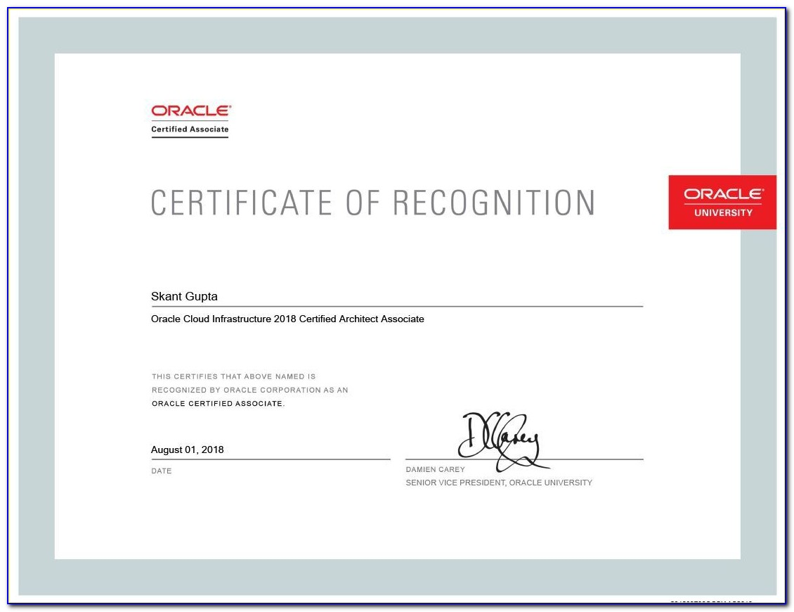 Oracle Cloud Certification Track