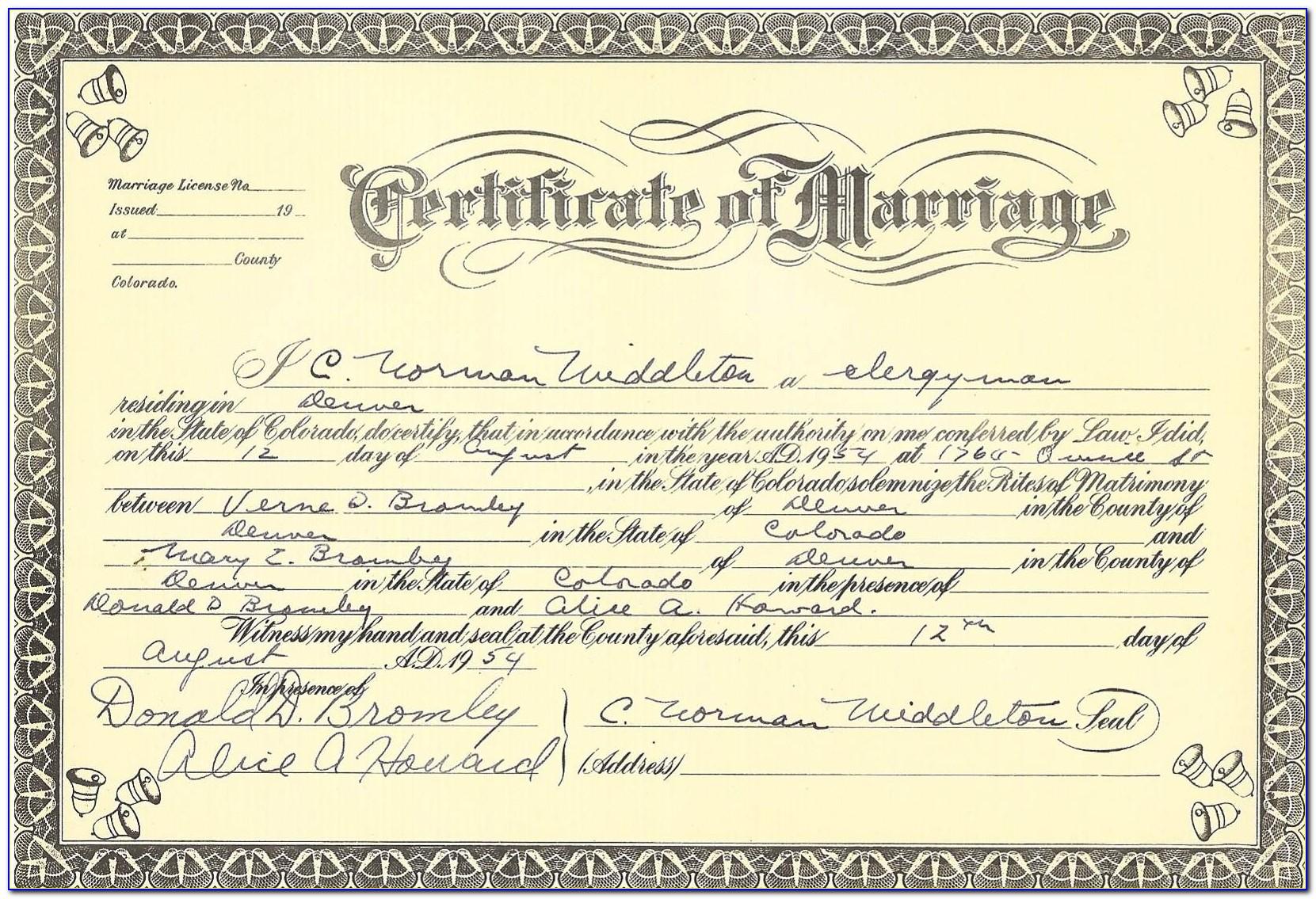 Order Birth Certificate Denver Colorado