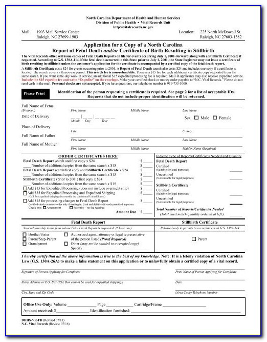 Order Birth Certificate Raleigh Nc