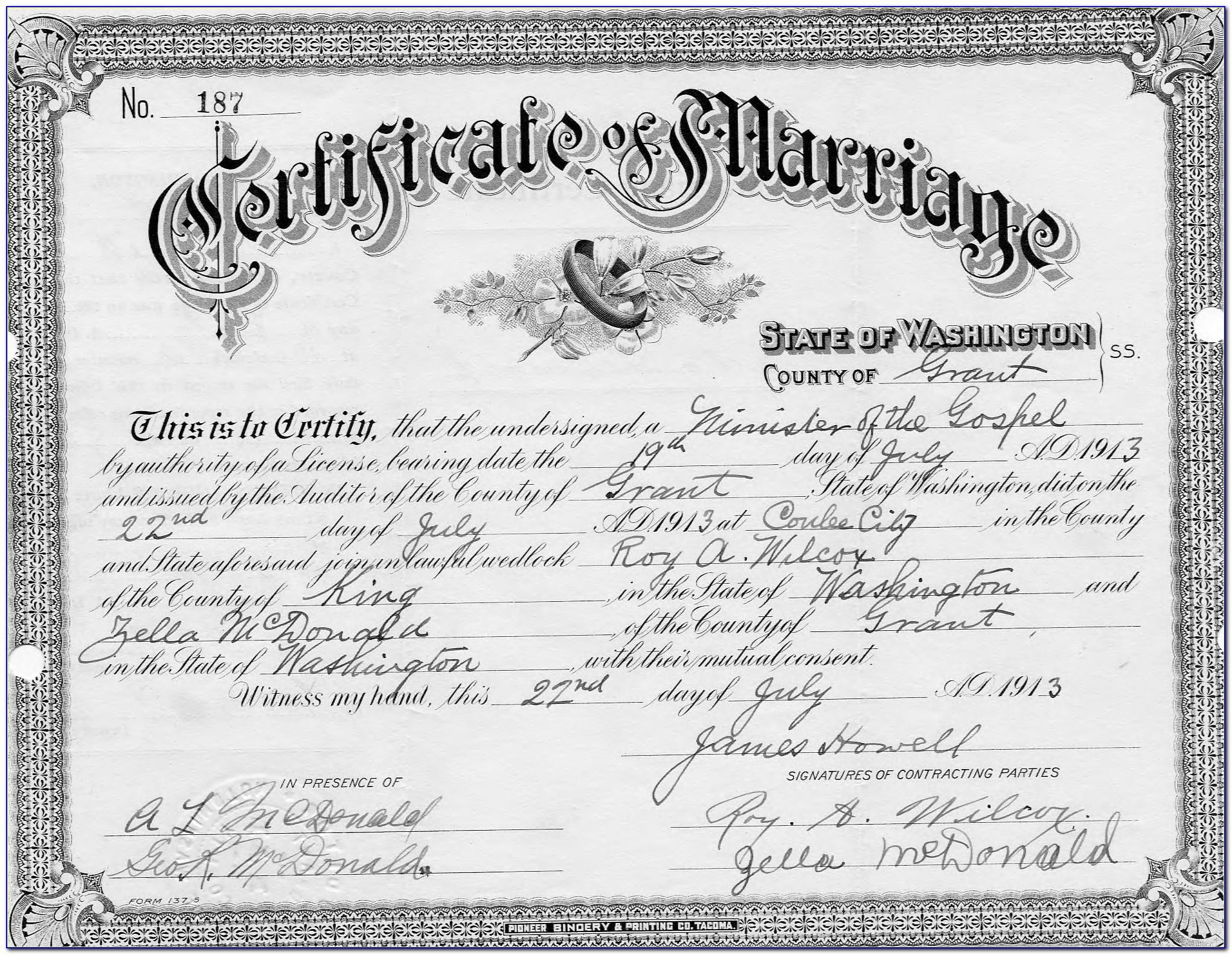 Order Birth Certificate Seattle