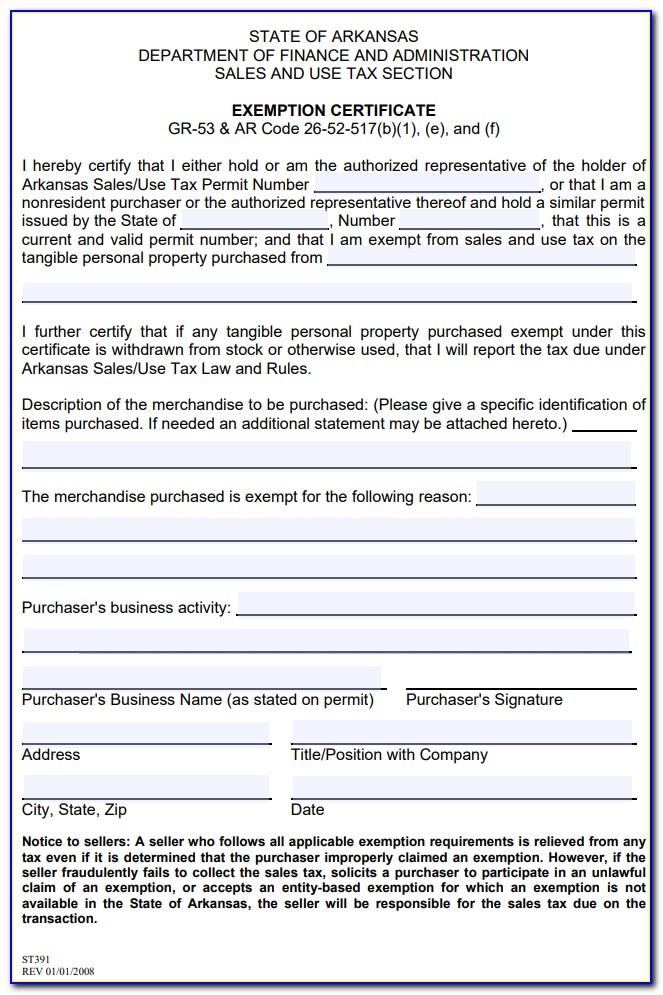 Oregon Resale Tax Certificate
