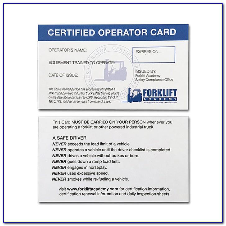 Osha Forklift Certification Cost