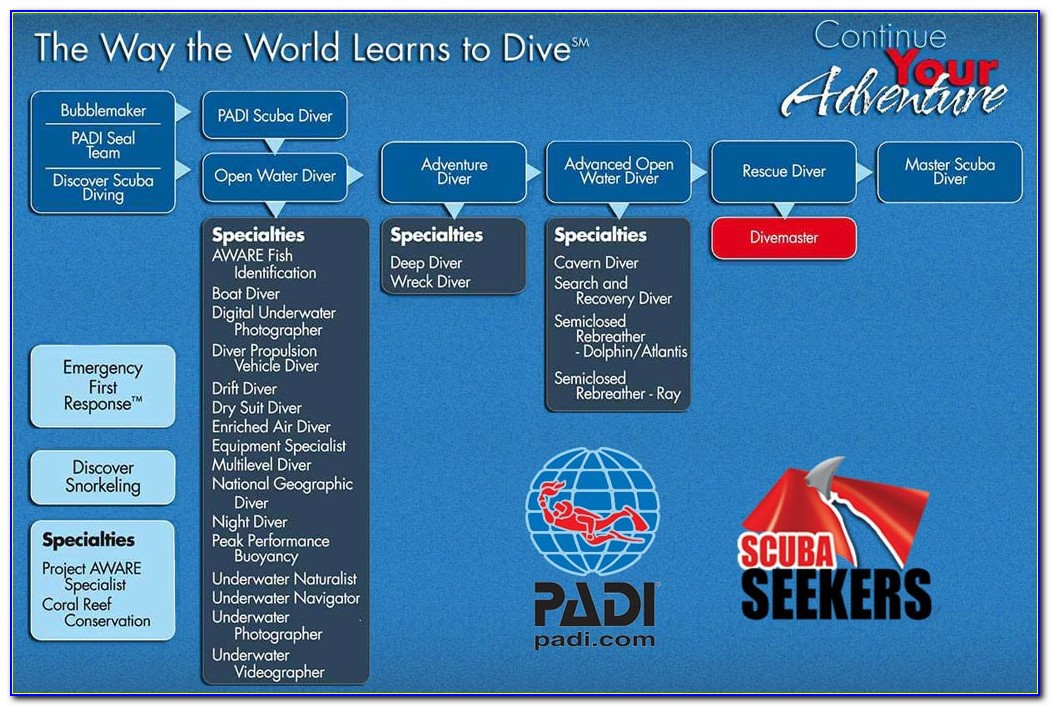 Padi Diver Certification Levels
