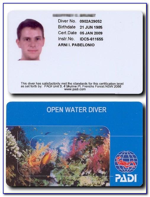 Padi Open Water Certification Lookup