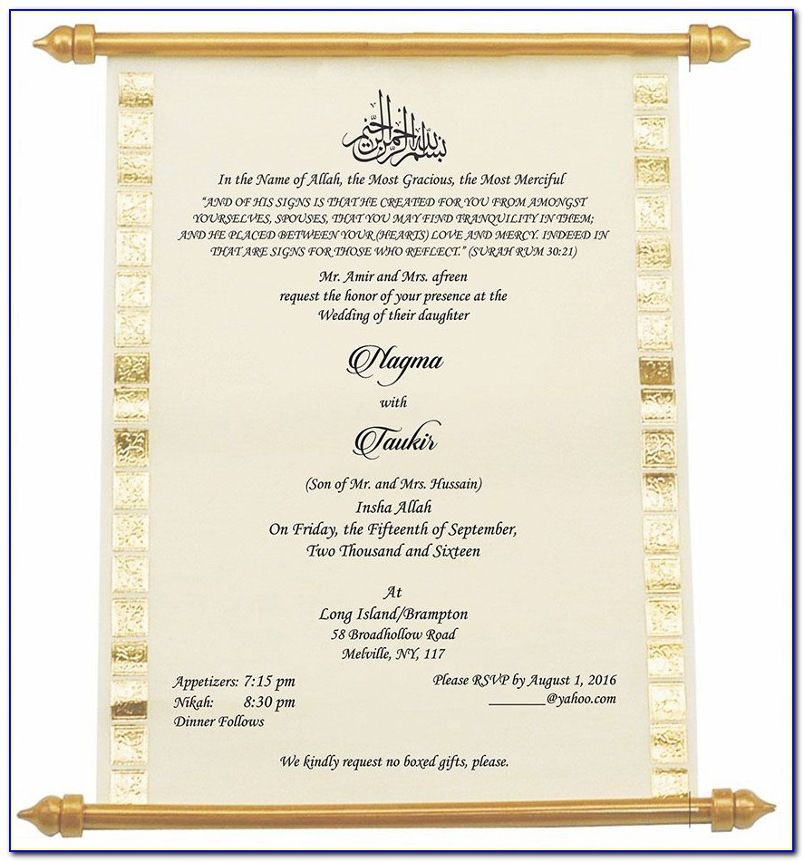 Pakistani Wedding Card Invitation Text