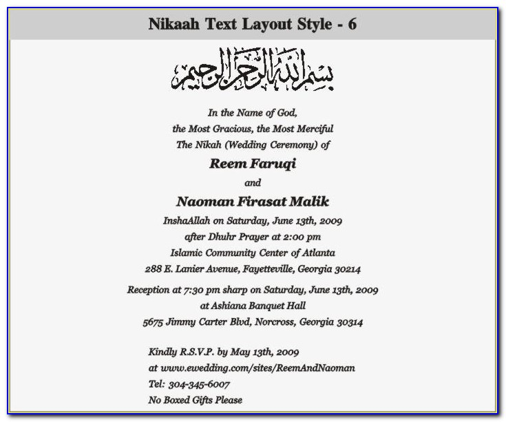 Pakistani Wedding Card Text Mehndi