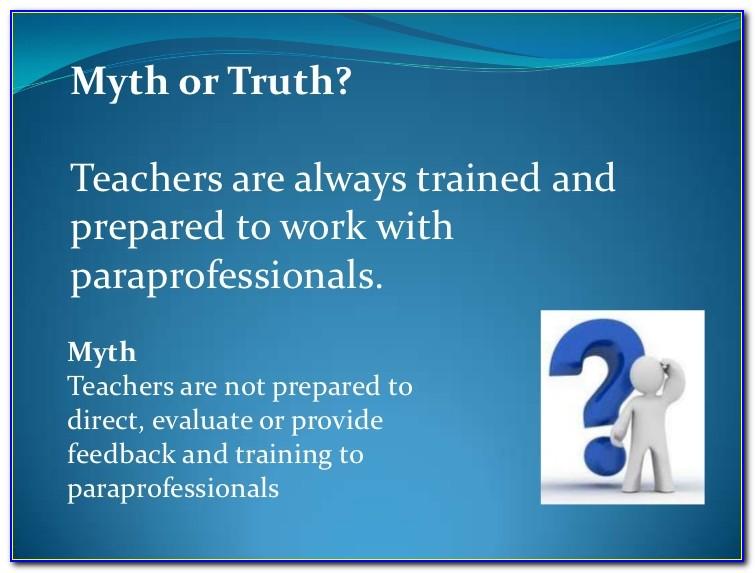 Paraprofessional Teacher Certification Texas