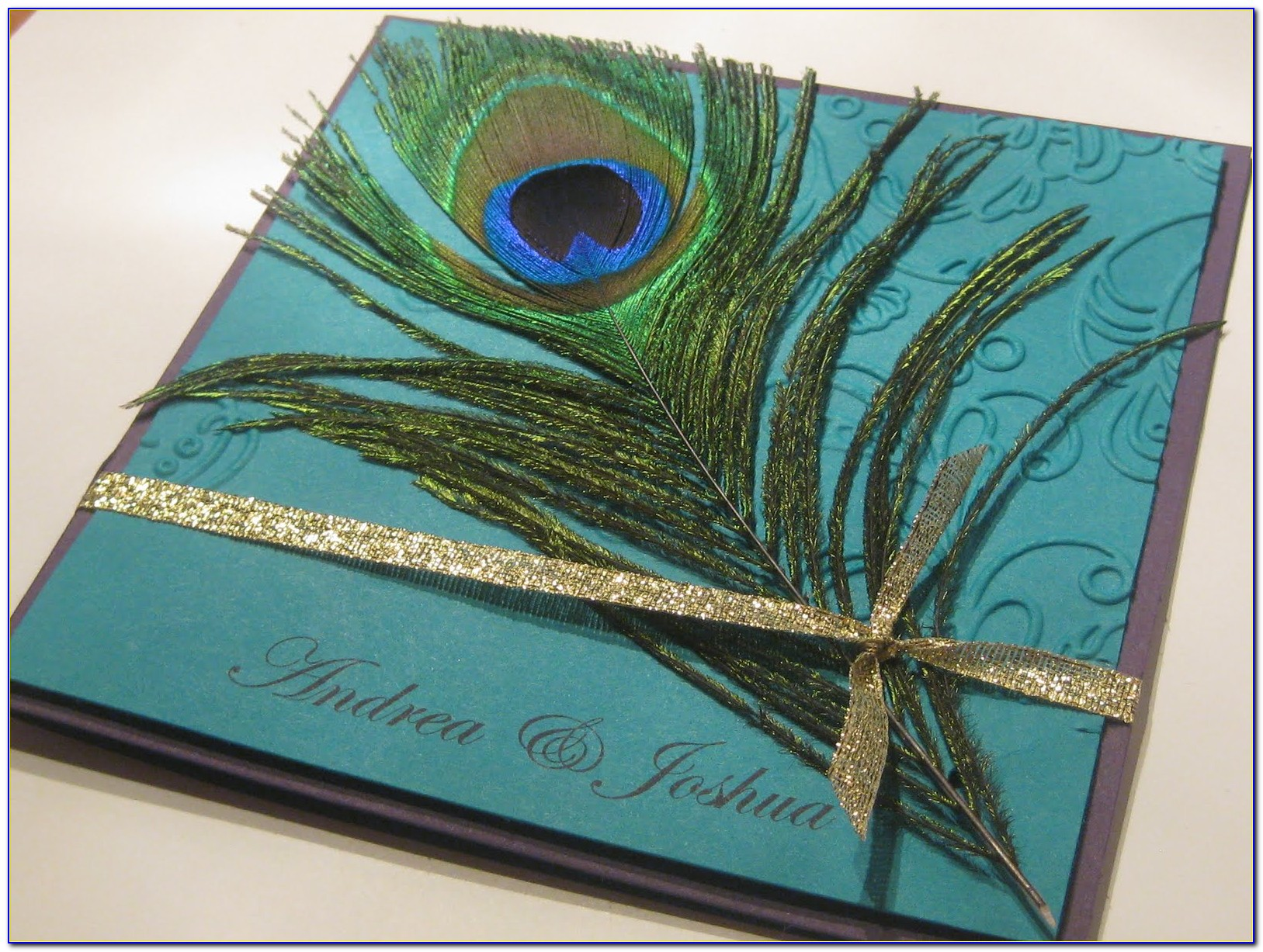 Peacock Wedding Invitations And Rsvp Cards