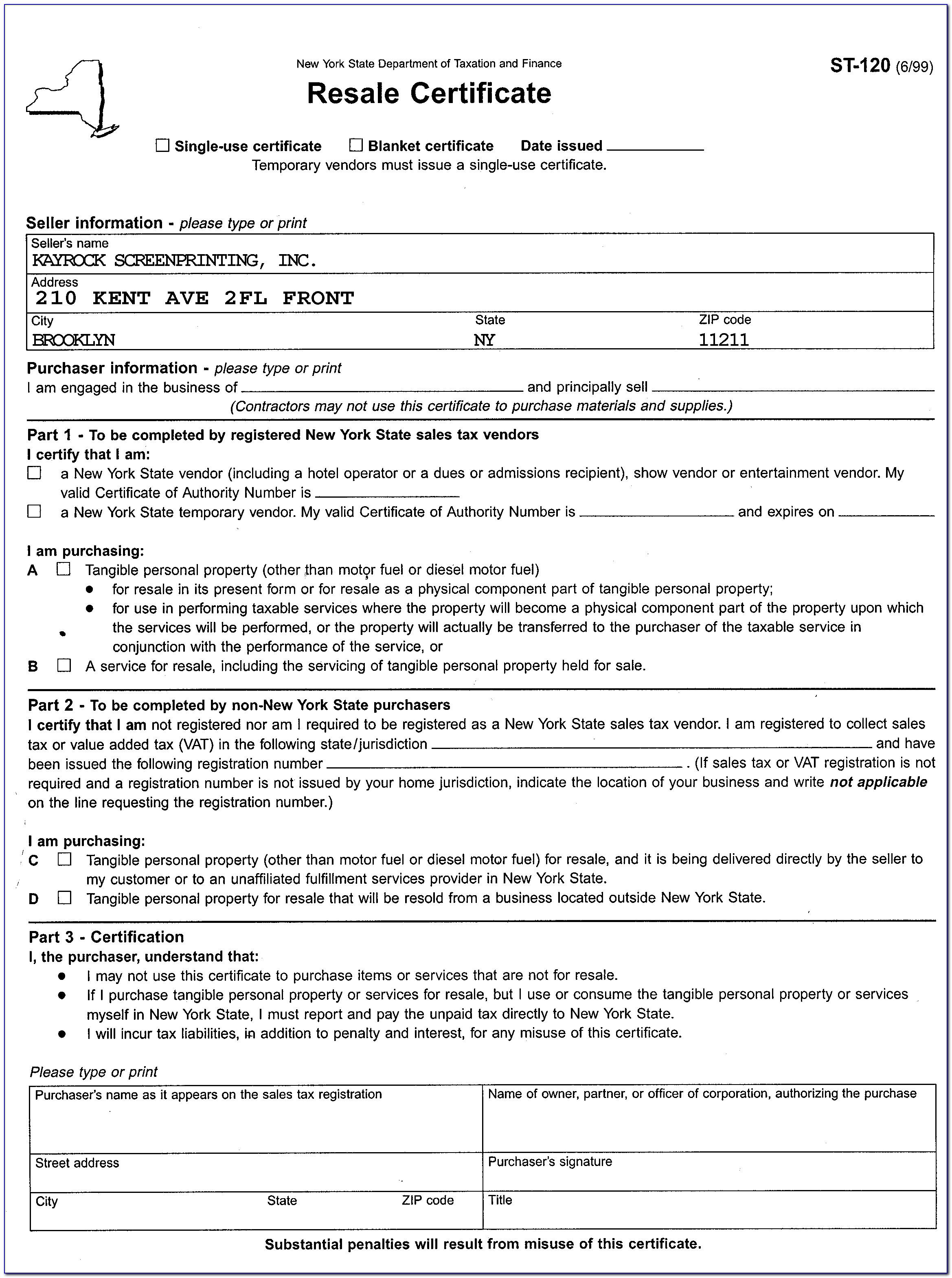 Pennsylvania Exemption Certificate Verification