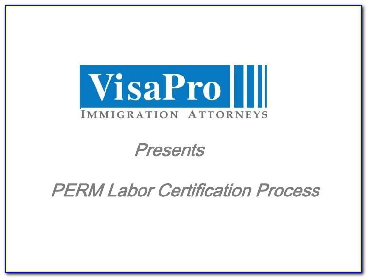Perm Labor Certification Cost