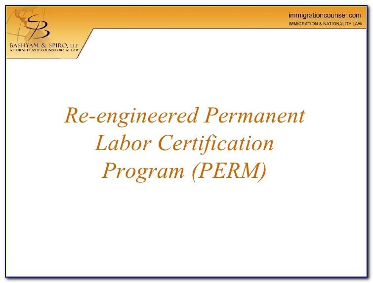 Perm Labor Certification Status
