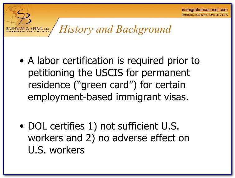 Perm Labor Certification Trackitt