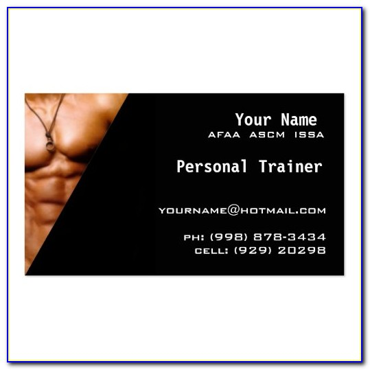 Personal Trainer Business Card Templates Free