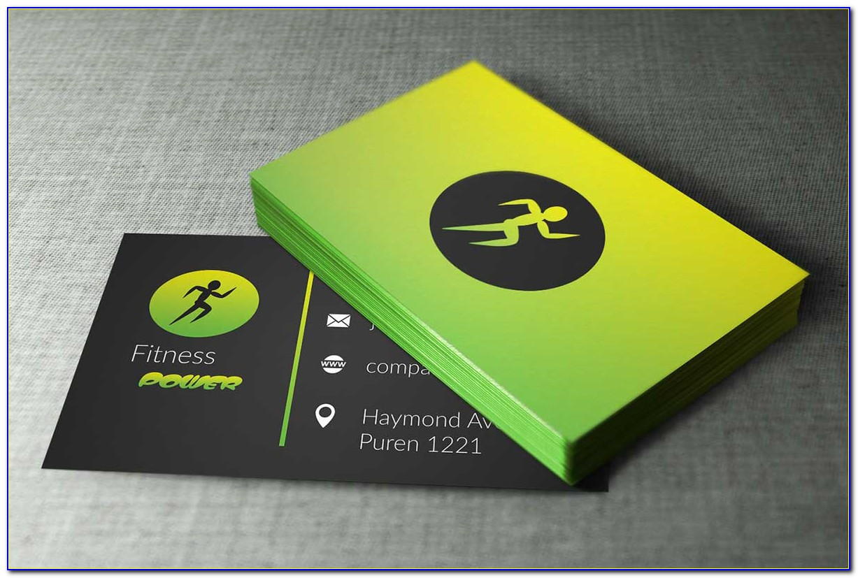 Personal Trainer Programme Card Template