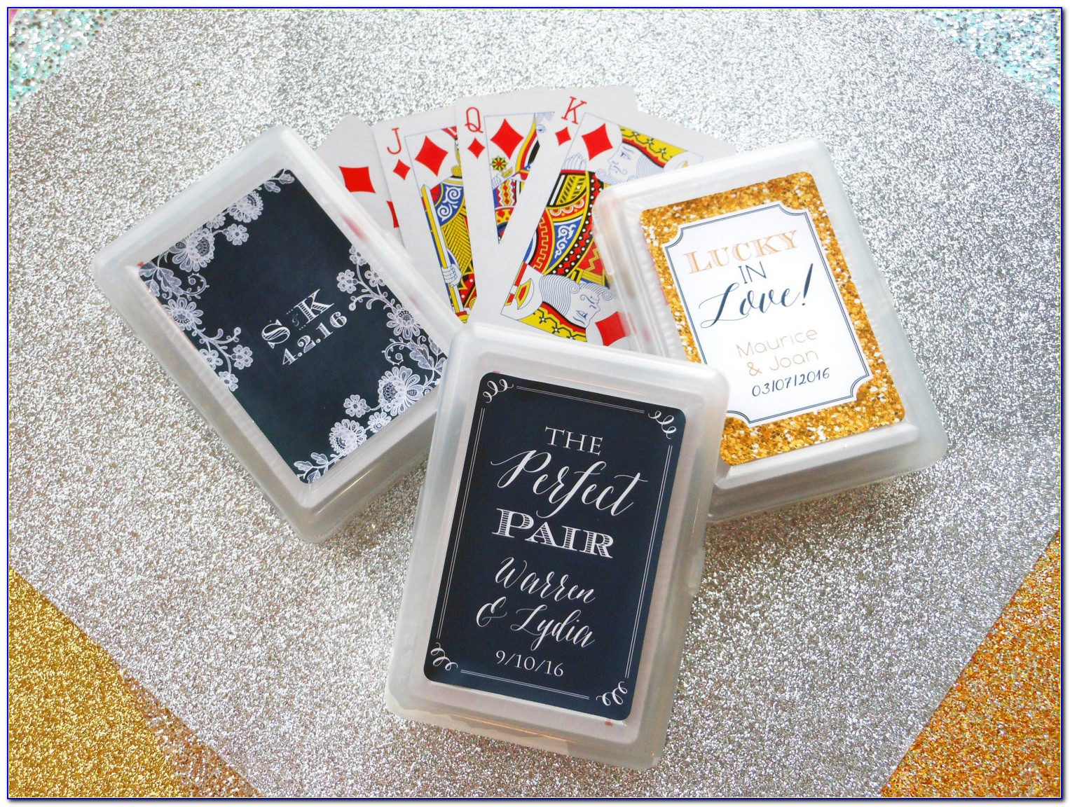 Personalized Deck Of Cards Wedding Favor