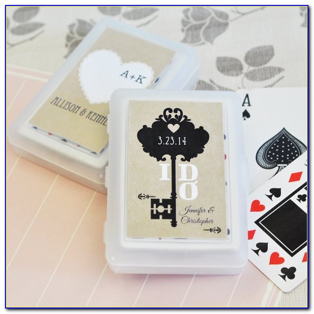 Personalized Photo Playing Cards Wedding Favors