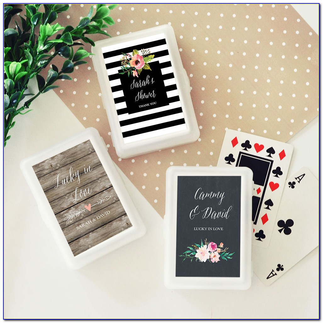 Personalized Playing Cards Wedding Favors Cheap