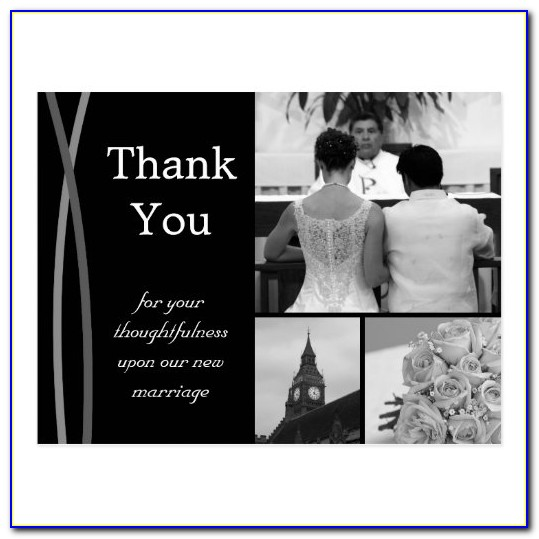 Personalized Wedding Thank You Cards With Photo