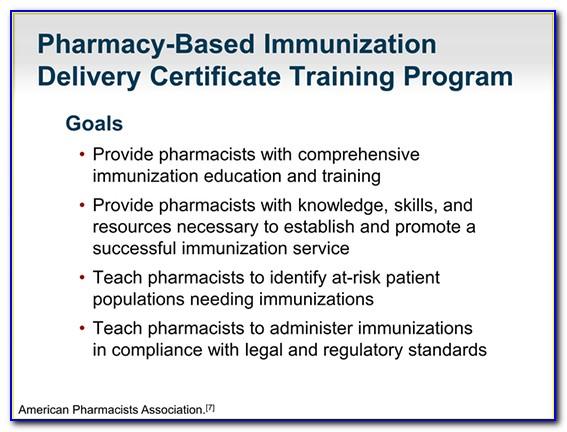 Pharmacist Immunization Certification Classes 2019 Pennsylvania