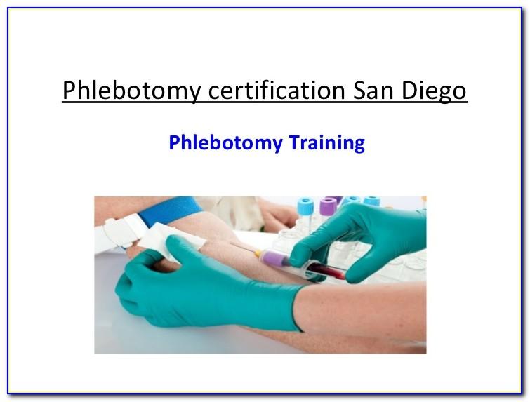Phlebotomist Certification California