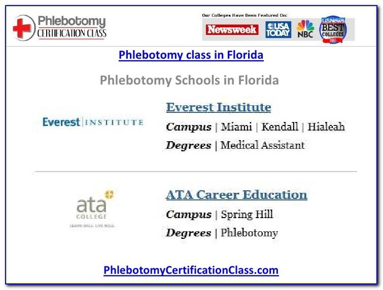 Phlebotomist Certification Florida
