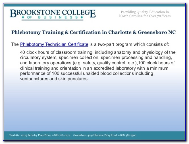 Phlebotomy Certification Nc