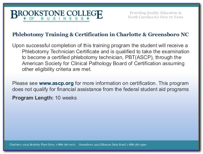 Phlebotomy Certification Ncct