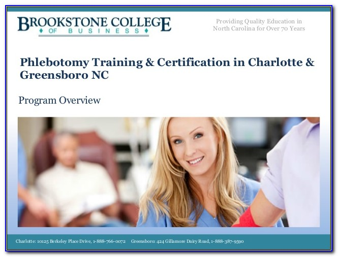 Phlebotomy Certification Nctc