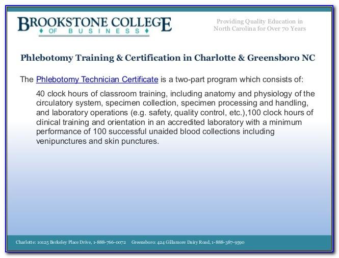 Phlebotomy Certification North Carolina