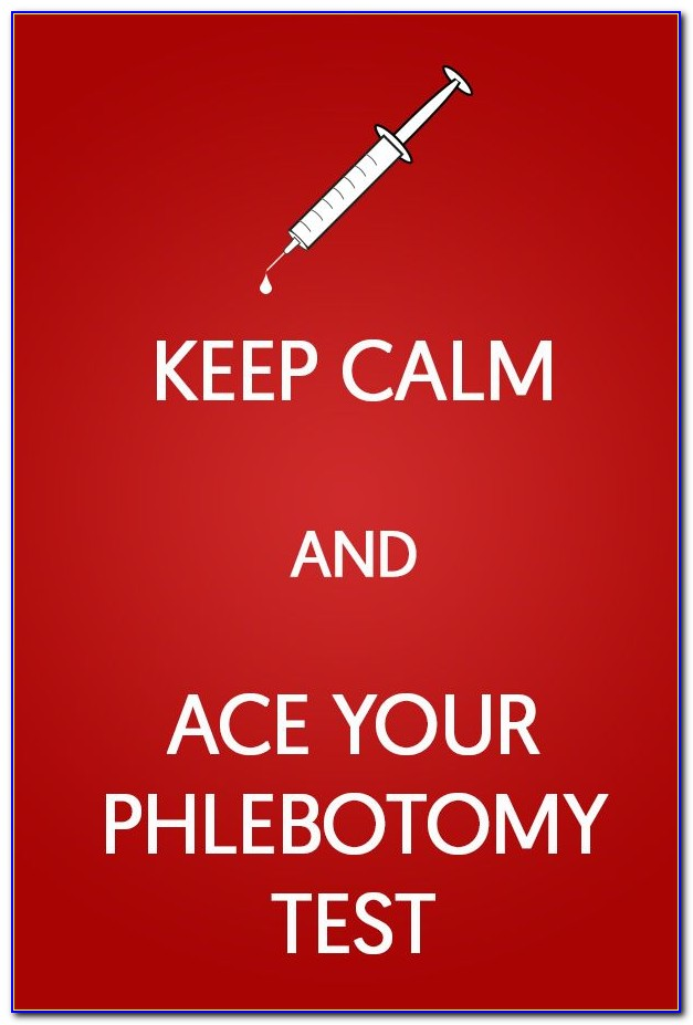Phlebotomy Certification Practice Test 2018